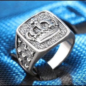 Silver Royal Crown Ring